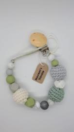 Mintgroen - lichtgrijs met blanke clip
