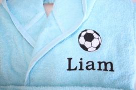 Voetbal + naam voorkant geborduurd