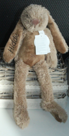 Rabbit Richie bruin 28 cm met naam geborduurd