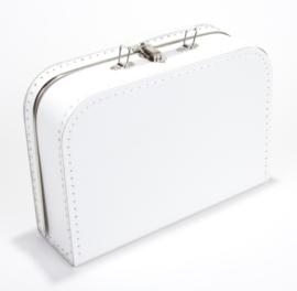 Wit koffertje 30 cm