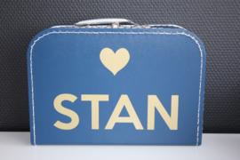 Koffertje met naam + hartje