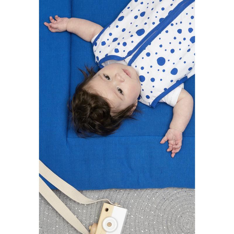 meyco boxkleed knit basic bright blue- kobaltblauw