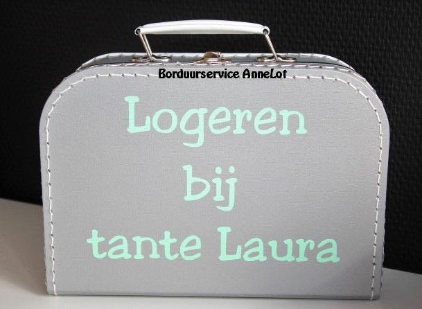 Koffertje logeren bij tante, oom, oma, opa ....naam