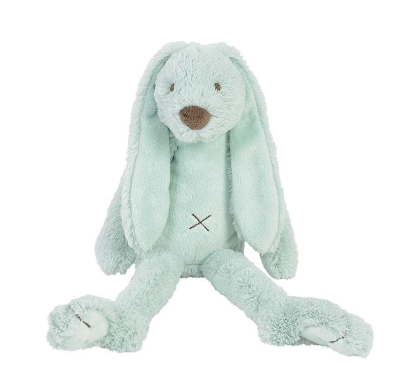 Mintgroen konijn Rabbit Richie met naam 38 cm