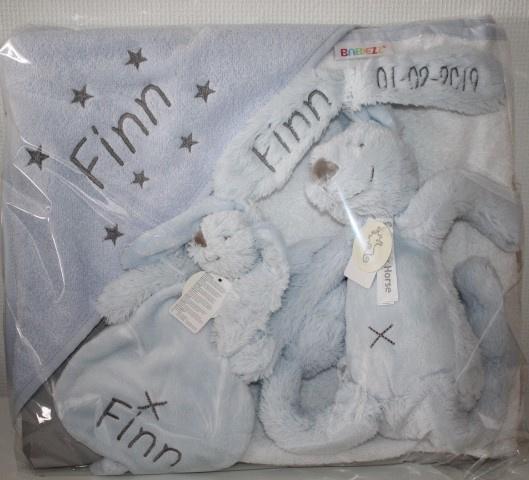 3 delig luxe kraampakket met naam + Happy Horse konijn Rabbit Richie