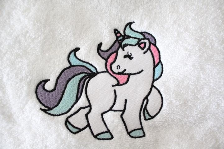 Handdoek met naam + unicorn