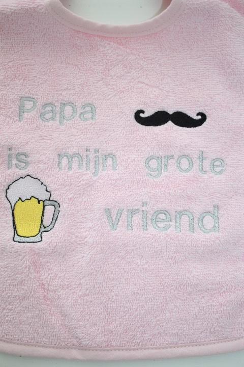 Luxe slab met papa is mijn vriend/ biertje/ snor