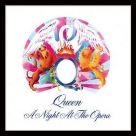 Queen  =Framed Cover Print= A Night At The Opera