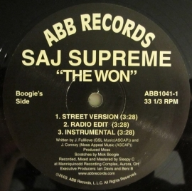 Saj Supreme ‎– The Won / Bump Da Gunz