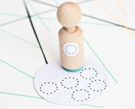 Miss Honeybird Mini Stempel Dotted Circle