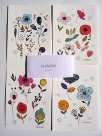 Mademoiselleyo - Flowers (set van 4)