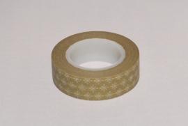 Washi Tape olijfgroen met sterretje