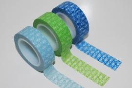 Washi Tape grafisch blauw