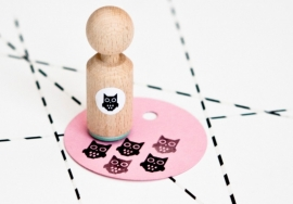 Miss Honeybird Mini Stempel Uil