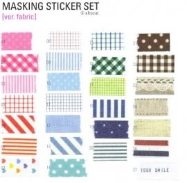 "Masking Sticker Set ""Fabric"" + tin case"