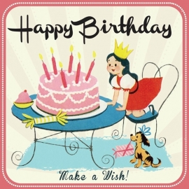 Happy Birthday Make a wish - girl