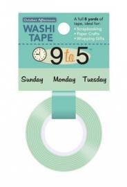 Washi Tape Weekdays