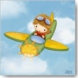Kaart jongetje in vliegtuig