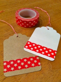 Washi Tape ster rood klein