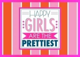 Ansichtkaart Happy girls