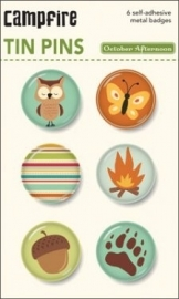 October Afternoon Button Stickers Campfire