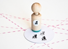 Miss Honeybird Mini Stempel Hertje