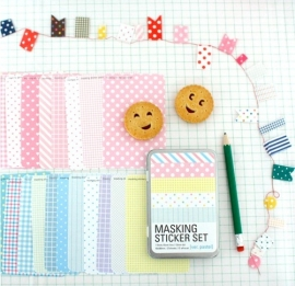 "Masking Sticker Set ""Pastel"" + tin case"