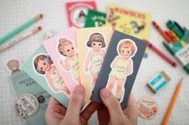 Sticky memo Paper Dolls