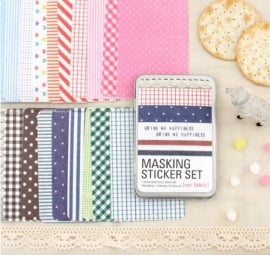 "Masking Sticker Set ""Fabric"" + tin case"
