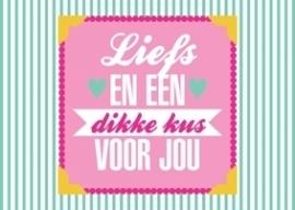 Ansichtkaart Liefs en een dikke kus voor jou