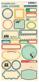 October Afternoon Label Stickers Boarding Pass