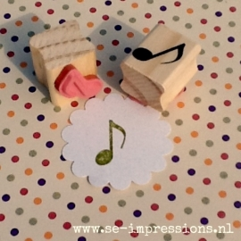 Stempel Muzieknoot
