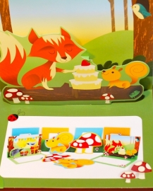 Woodland Pop-Up en Die-Cut kaarten - Vos/Paddestoel