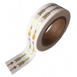 Washi Tape Pijlen van goudfolie