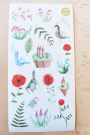 Aquarel Stickers Nikki Dotti Illustrations