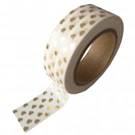 Washi Tape Hartjes van goudfolie