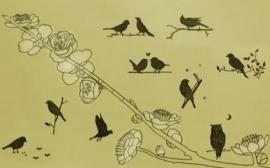 Stempelset Mountain Birds