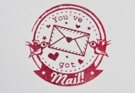 Miss Honeybird Stempel You`ve Got Mail