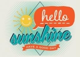 Ansichtkaart Hello sunshine