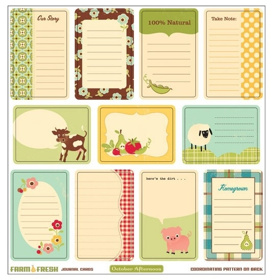 Journal Cards Farm Fresh
