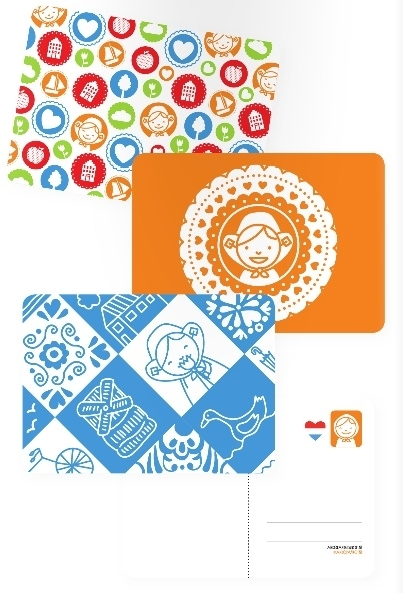 Hollandse ansichtkaartenset