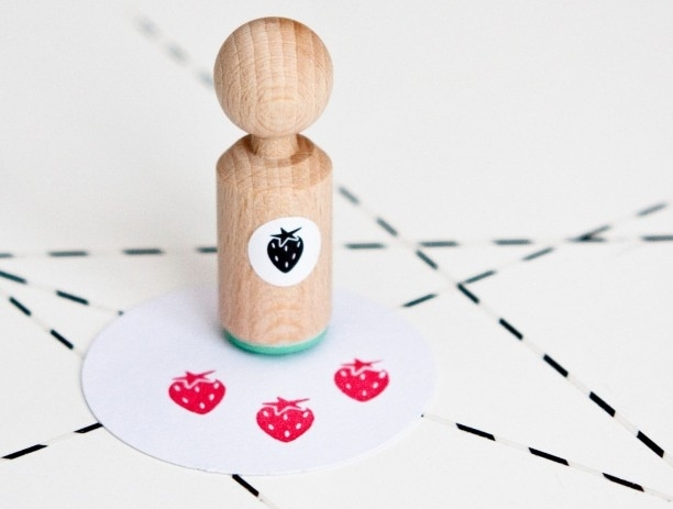 Miss Honeybird Mini Stempel Aardbei