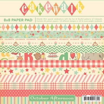 October Afternoon Paper Pad 8x8inch Cakewalk