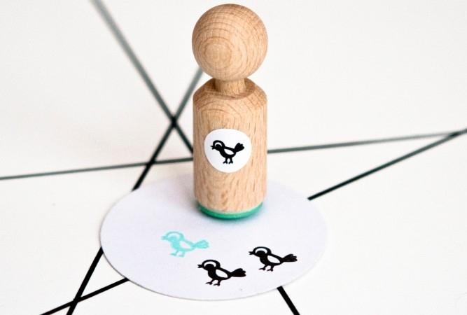 Miss Honeybird Mini Stempel Vogel