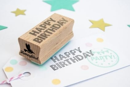 Miss Honeybird Stempel Happy Birthday