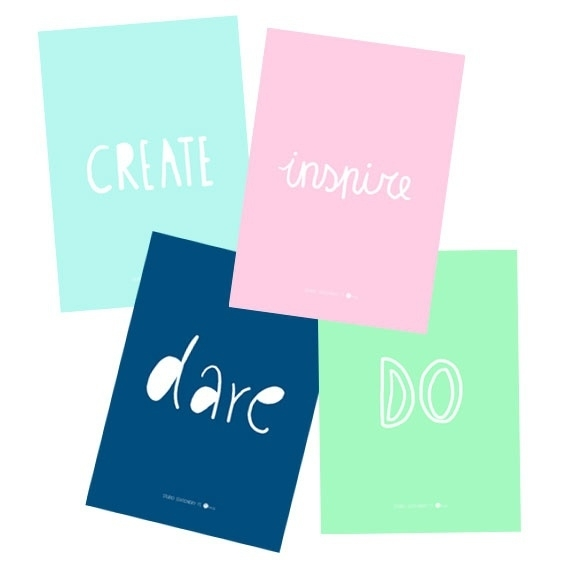 Create, Inspire, Dare, Do ansichtkaartenset