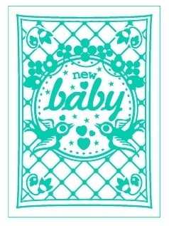 Postcard New Baby
