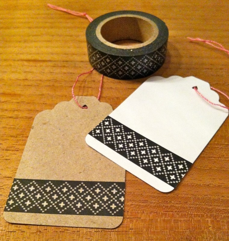 Washi Tape Cross Stitch Zwart