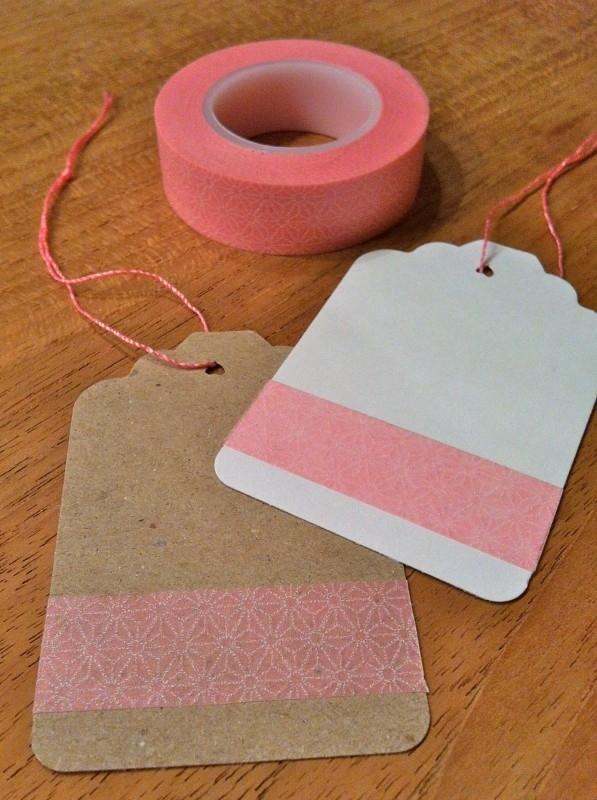 Washi Tape grafisch roze