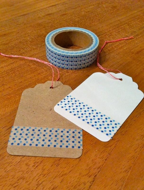 Washi Tape blauwe stippen
